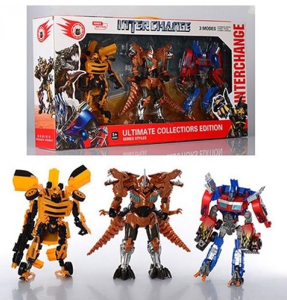 Набор трансформеров 4119 Transformers (3 модели) Оптимус Прайм. Бамблби. Гримлок