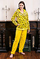 Пижама женская Leopard желтая