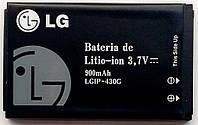 Аккумуляторная батарея LGIP-460G (IP430G) для телефонов LG KP265, CU720 Shine, GU230,  KF390, KS365, 900mAh
