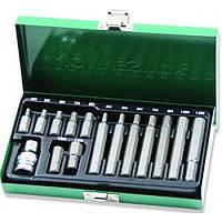 Набор вставок (бит) шестигранных (30 и 75 мм) 4-12 мм, 15 предметов Jonnesway S29H4115S
