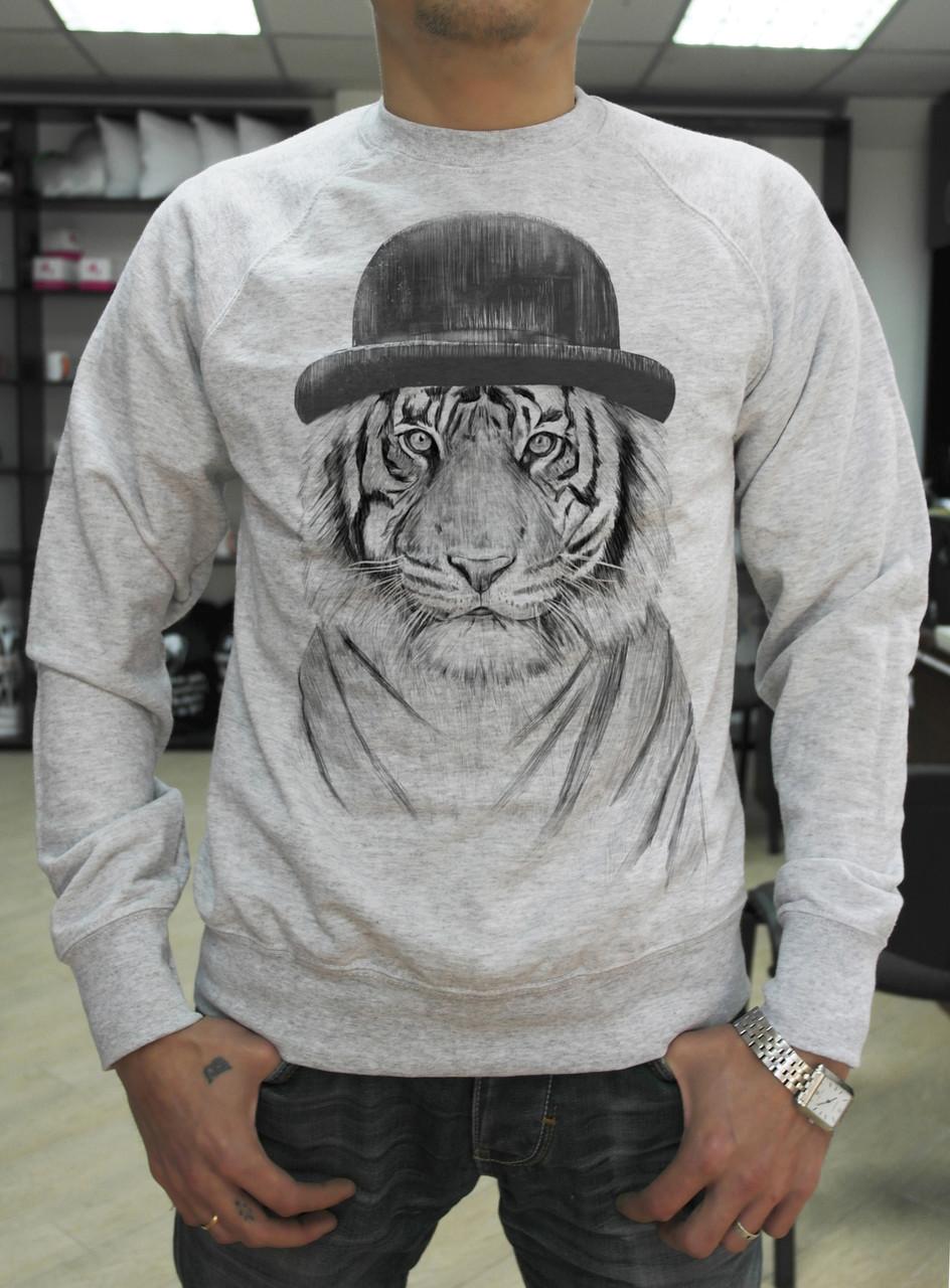 """Мужской свитшот """"Тигр в шляпе"""""""