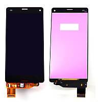 Дисплей (экран) для Sony D5803 Сони, D5833 Xperia Z3 Compact с тачскрином в сборе, черный
