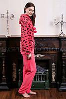 Пижама женская Leopard персик