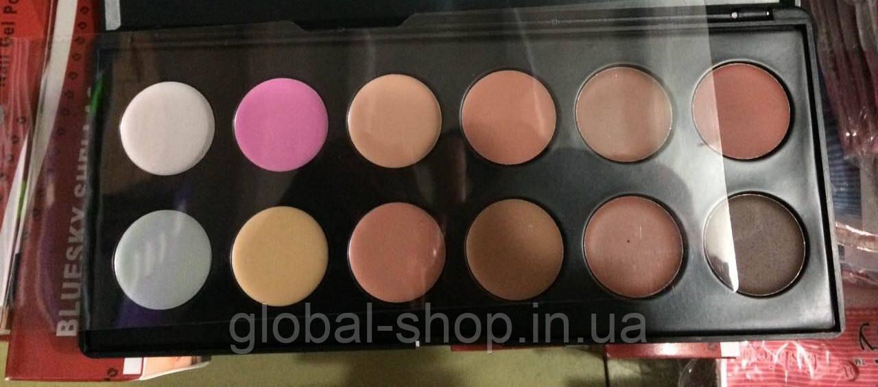 Палитра корректоров (консиллеров) для макияжа 12 цветов - Интернет магазин Global Shop в Киеве