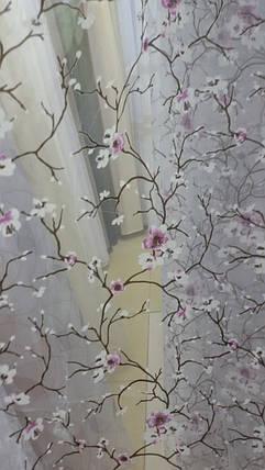 """Тюль  готовая """"Сакура""""  сиреневая, 3метра, фото 2"""