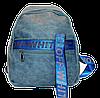 Женский рюкзак из искусственной кожи синего цвета  SUH-003112