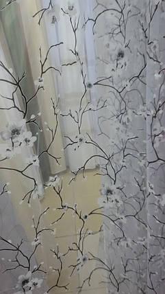 """Тюль  готовая """"Сакура""""  Белая, 3метра, фото 2"""