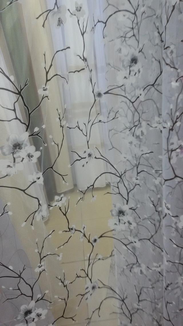 Готовая тюль сакура, #органзасакура, #готоваятюль
