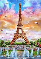 Набор для алмазной вышивки квадратными камнями Вид на Эйфелеву башню 60 х 40 см (арт. FS616), фото 1
