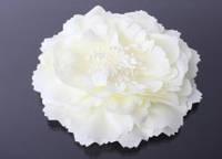Головка пиона тканевая 12 см.  белая