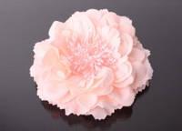 Головка пиона тканевая 12 см. нежно розовая