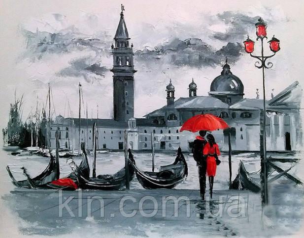 Набор для алмазной вышивки Любовь на берегу Венеции 60 х 40 см (арт. FS617) большой размер, фото 1