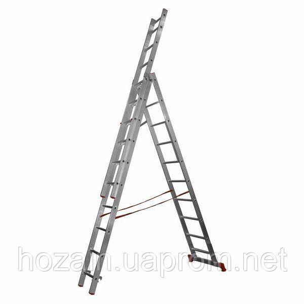 Лестница 3-х секционная алюминиевая Stairs L309