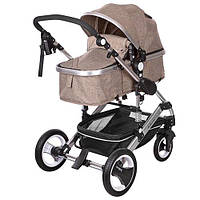 Візок дитячий 535-Q3-KHAKI універсал., книжка, колеса 4 шт., регул. спинка, ремені безпеки, чохол,