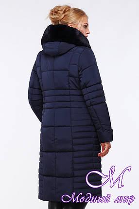 Теплая женская зимняя куртка-пальто большого размера (р. 48-64) арт. Дарселла, фото 2