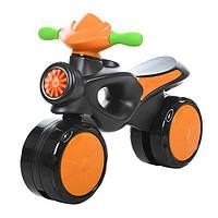 Каталка-толокар 8201-7 (1шт) мотоцикл,62-17-46см,выс.до сиденья28см,пластик,оранж,в кор,66-37-16см
