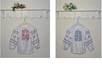 Вышиванка для девочки Нежные цветы Размер 116, 128, 134 см