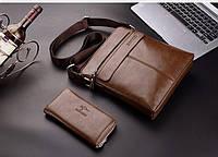 Мужская кожаная сумка. Модель 63152, фото 6