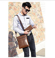 Мужская кожаная сумка. Модель 63152, фото 10