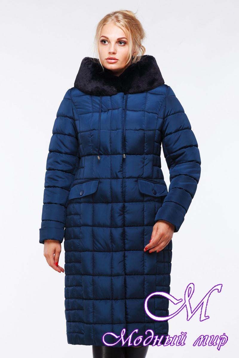 Женское стеганное зимнее пальто батал (р. 48-64) арт. Лара изумруд