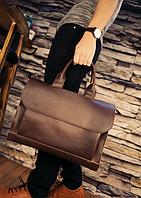 Мужская кожаная сумка. Модель 61341, фото 5