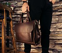 Мужская кожаная сумка. Модель 61341, фото 3