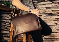 Мужская кожаная сумка. Модель 61341, фото 4