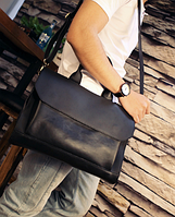 Мужская кожаная сумка. Модель 61341, фото 8