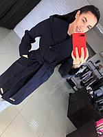 Кашемировое стильное пальто с капюшоном
