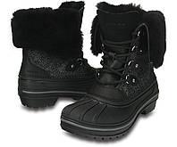 Ботинки зимние женские непромокаемые Crocs Women's AllCast II Luxe Boot / сапоги кожаные