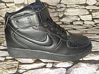 Женские высокие кожаные кроссовки Nike Air Force Найк