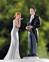 """Керамическая статуэтка на свадебный торт """"Воздушный поцелуй любимой"""""""