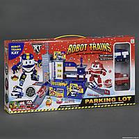 """Гараж ZY 647  """"Robot Trains"""", 2 машины, лифт"""