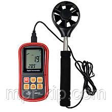 Анемометр Benetech GM8909 (0.3-45m/s; 0-45ºC; 0-999900m3/min) з телескопічною рукояткою. Ціна з ПДВ +20%