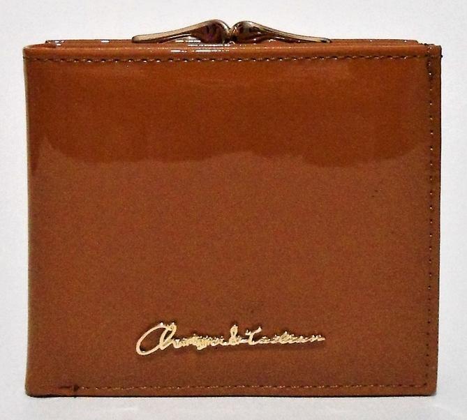 Женский лаковый кошелек BАLISА рыжего цвета из кожзама WLP-069872, фото 1