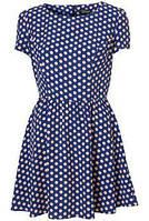 Платье в горошек Topshop