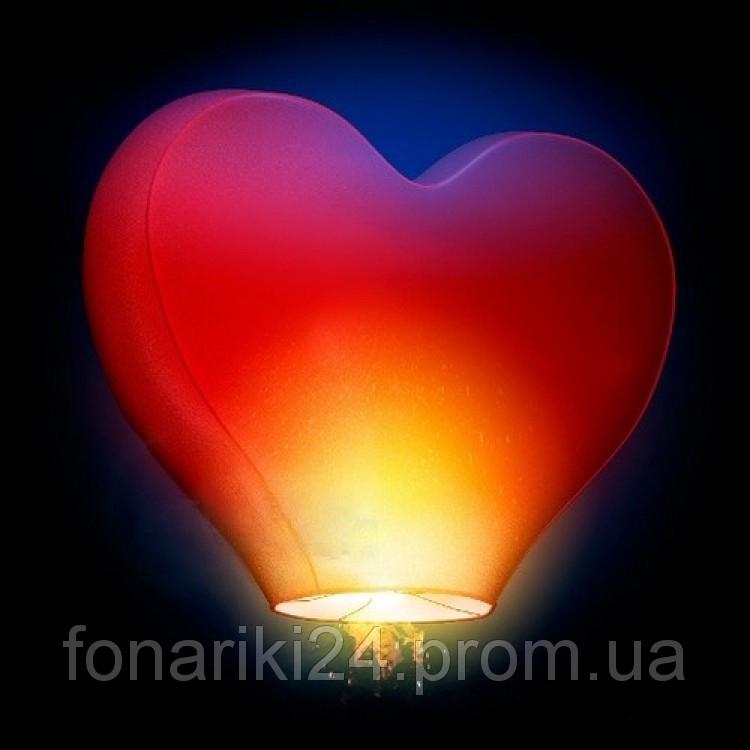 Большое сердце 1.5 метра, небесный фонарик
