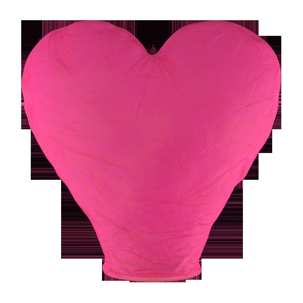 Небесный фонарик SKY 1.5м сердце красный