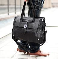 Мужская кожаная сумка. Модель 61346, фото 4