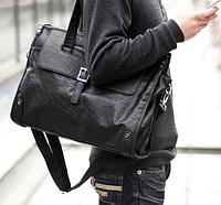 Мужская кожаная сумка. Модель 61346, фото 5