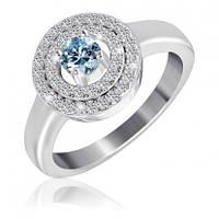 """Серебряное кольцо с имитацией топаза """"432"""""""