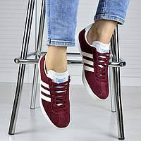 Женские кроссовки Adidas бордо