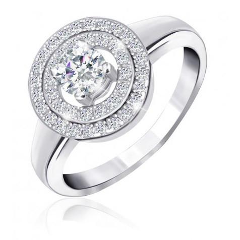 "Серебряное родированное кольцо ""432"""