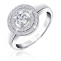 "Серебряное родированное кольцо ""432"", фото 1"