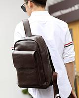 Мужской кожаный рюкзак. Модель 61348, фото 2