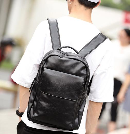 Мужской кожаный рюкзак. Модель 61348