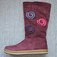 Зимние сапоги замшевые девочка 11shoes размер 35 37