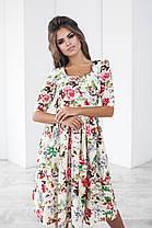 Т1115 Платье миди с цветочным принтом, фото 2