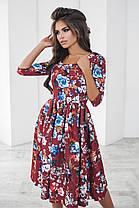 Т1115 Платье миди с цветочным принтом, фото 3