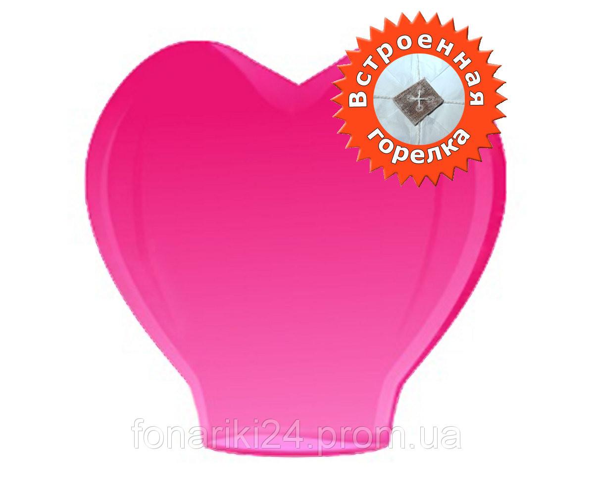 Небесный фонарик сердце встроенная горелка
